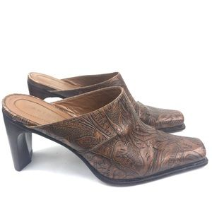 Antonio Melani   Tango Brown Western Mules